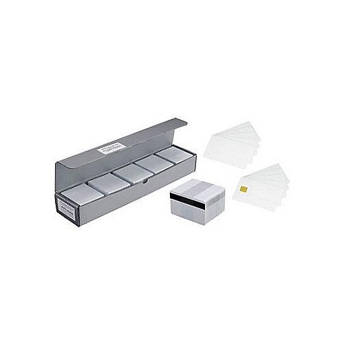 104523-112 500Stk. PVC-Karten Magnetstreifen weiß CR-80 30mil | 5711045301506