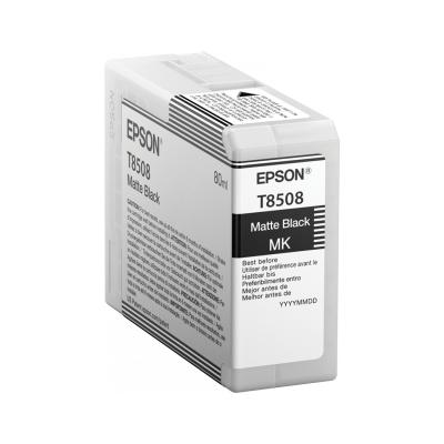 Epson  C13T850800 Druckerpatrone T8508 Hohe Kapazität Matt-Schwarz SC-P800   0010343914933