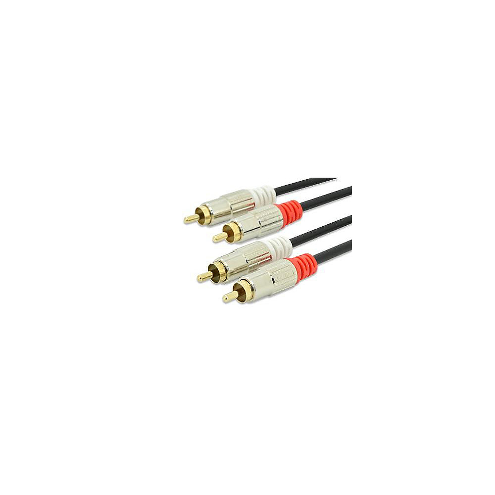 Ednet Premium Cinch Kabel vergoldete Stecker 2x Cinch St/St 2,5m