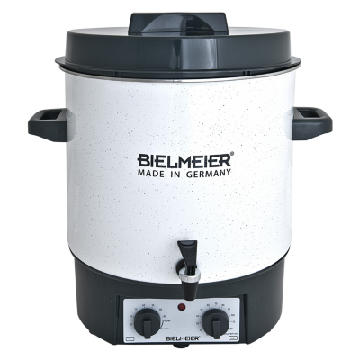 Bielmeier  BHG 485.1 Einkoch-Vollautomat Emaille Kunststoff-Auslaufhahn 27Liter   4035161485126