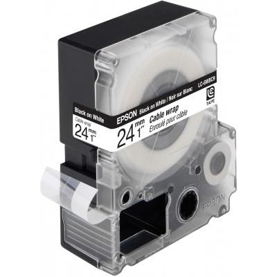Epson  C53S627404 LC-6WBC9 – Bandetiketten – Schwarz auf Weiß | 8715946499017