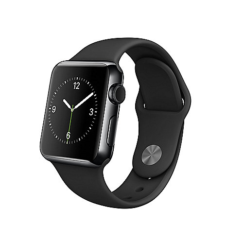 Apple Watch Space Schwarz Stainless Steel 38mm
