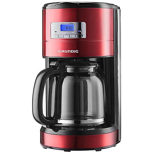 Grundig KM 6330 Programmierbare Kaffeemaschine Red Sense Rot / Edelstahl | 4013833170082
