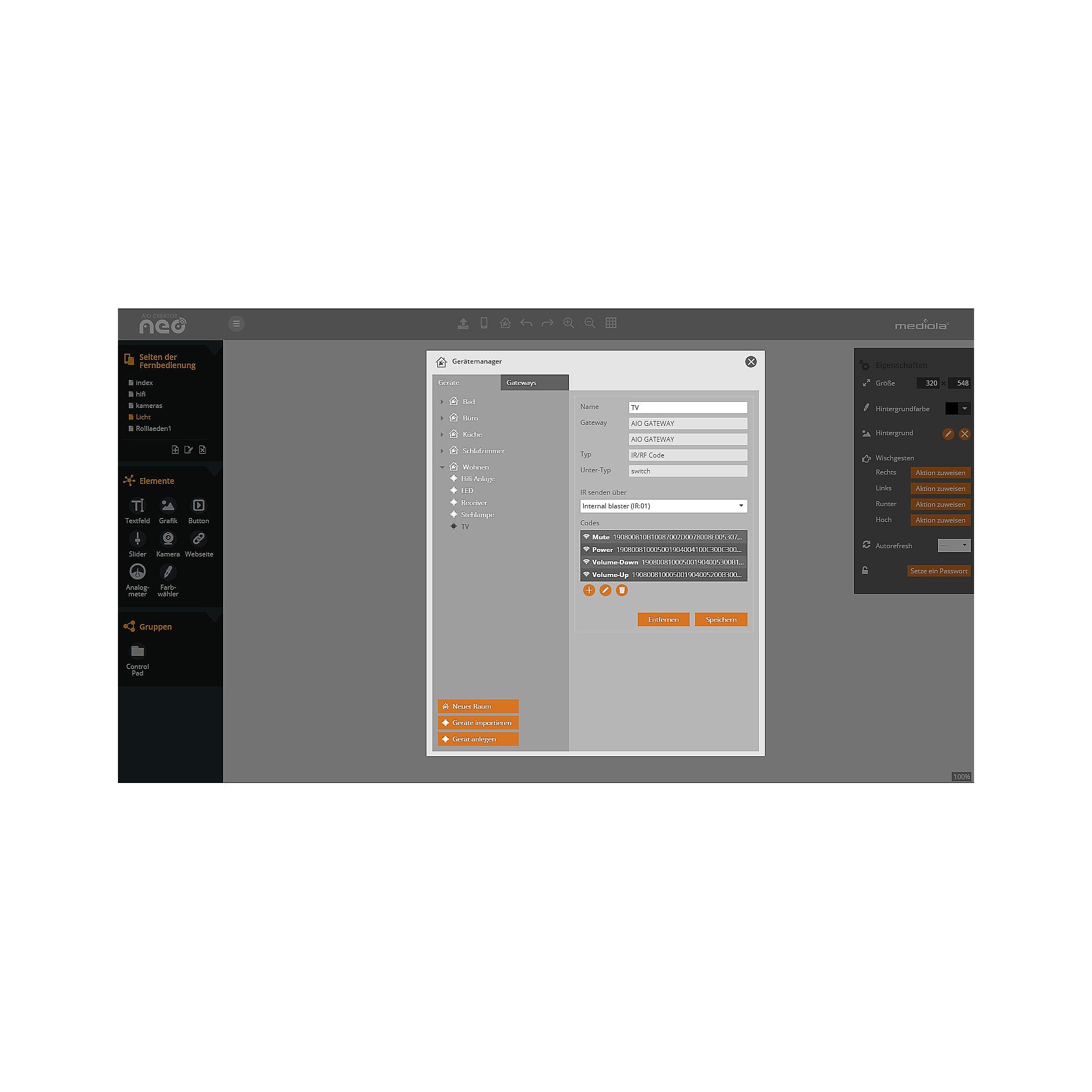 homematic 103584 smart home zentrale ccu2 mediola aio creator neo cyberport. Black Bedroom Furniture Sets. Home Design Ideas