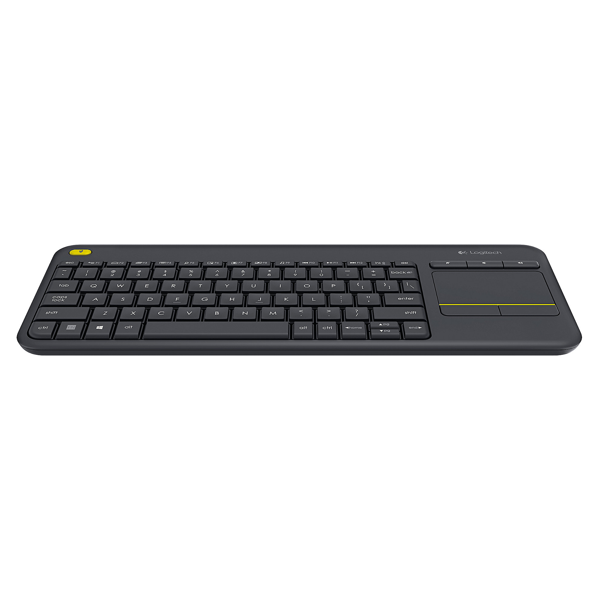 Logitech Wireless Touch Keyboard K400 Plus Black