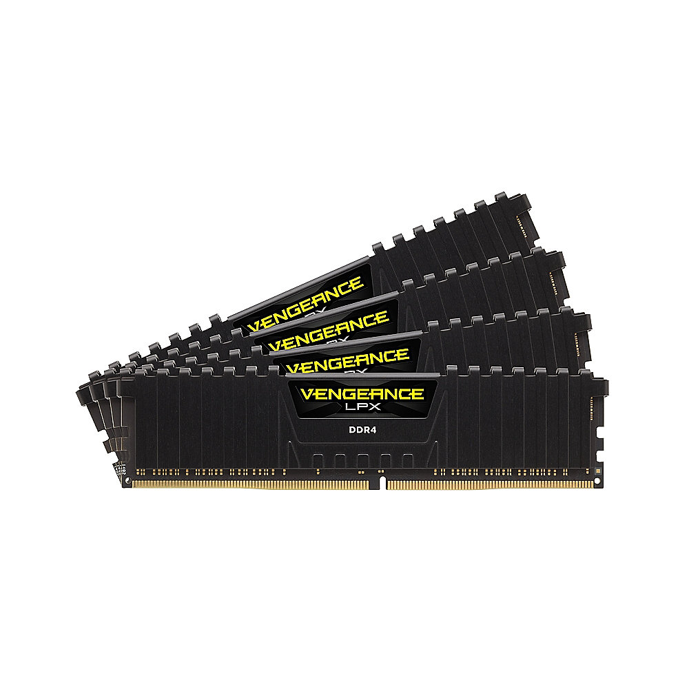 16GB (4x4GB) Corsair Vengeance LPX Black DDR4-3000 RAM CL15 (15-17-17-35)
