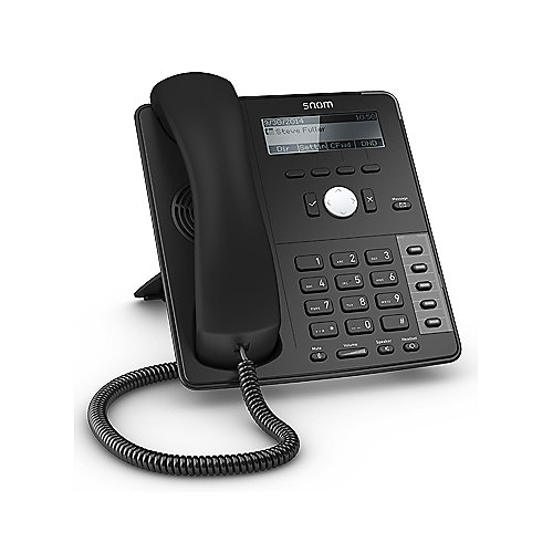 Snom D715 Voice-over-IP Internet Telefon schwarz