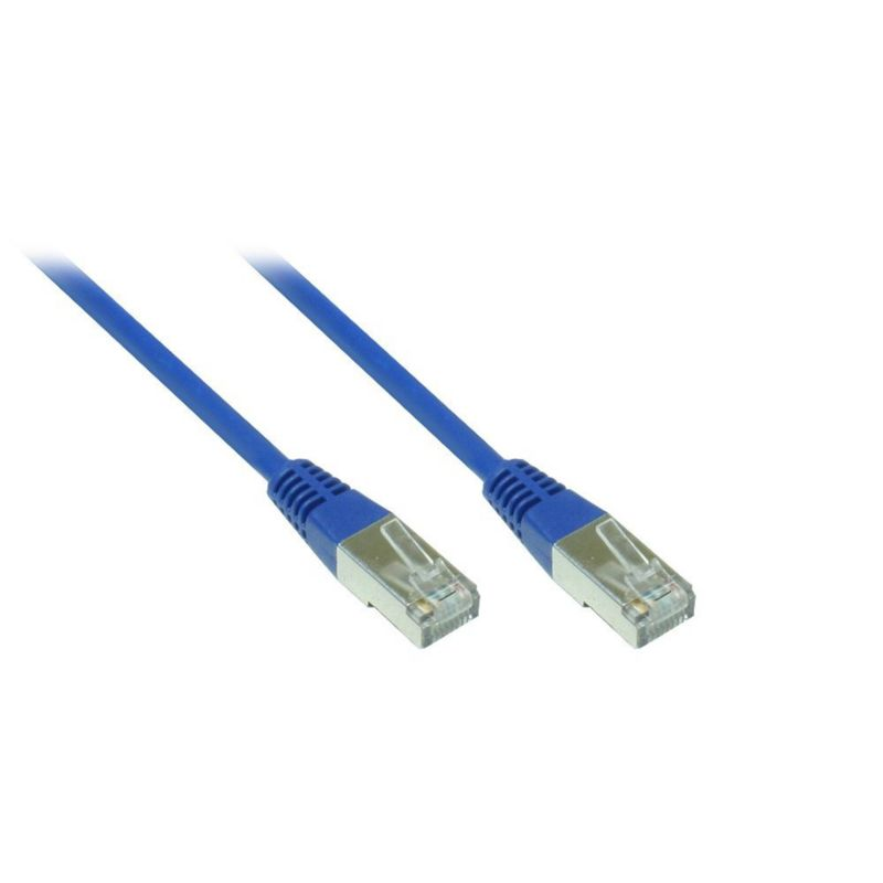 Good Connections Patch Netzwerkkabel RJ45 SF/UTP CAT5e 0,25m blau