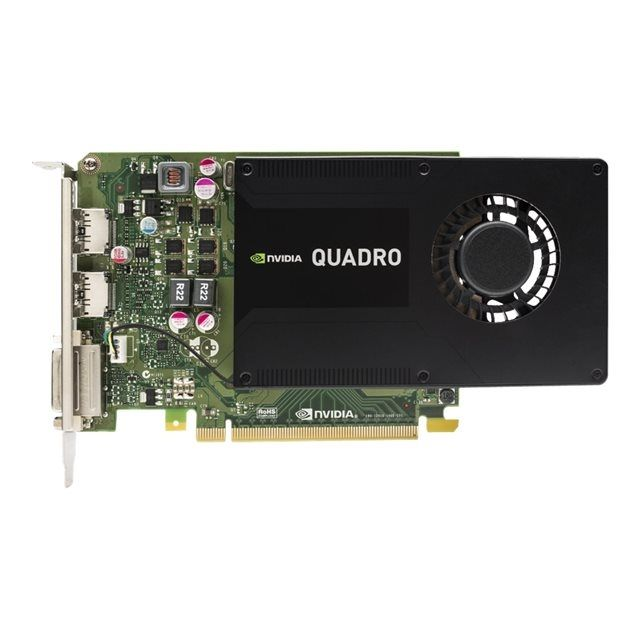 HP NVIDIA Quadro K2200 4GB PCI-E x16 Triple Head FH DVI 2x DP