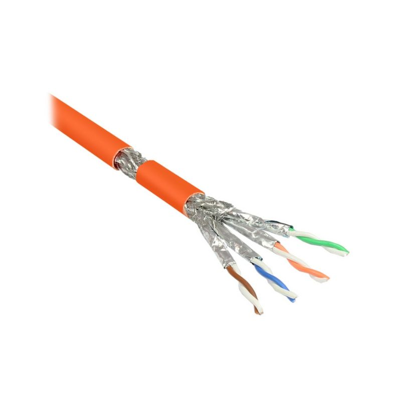 Good Connections Verlegekabel Cat.7 S/FTP PiMF 4P Simplex halogenfrei orange 25m