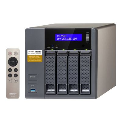 QNAP TS-453A-4G NAS System 4-Bay QTS-Linux Comb...