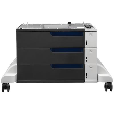 HP  CE725A Druckerunterschrank mit Medienzuführung 1500 Blätter in 3 Schubladen | 0885631468067