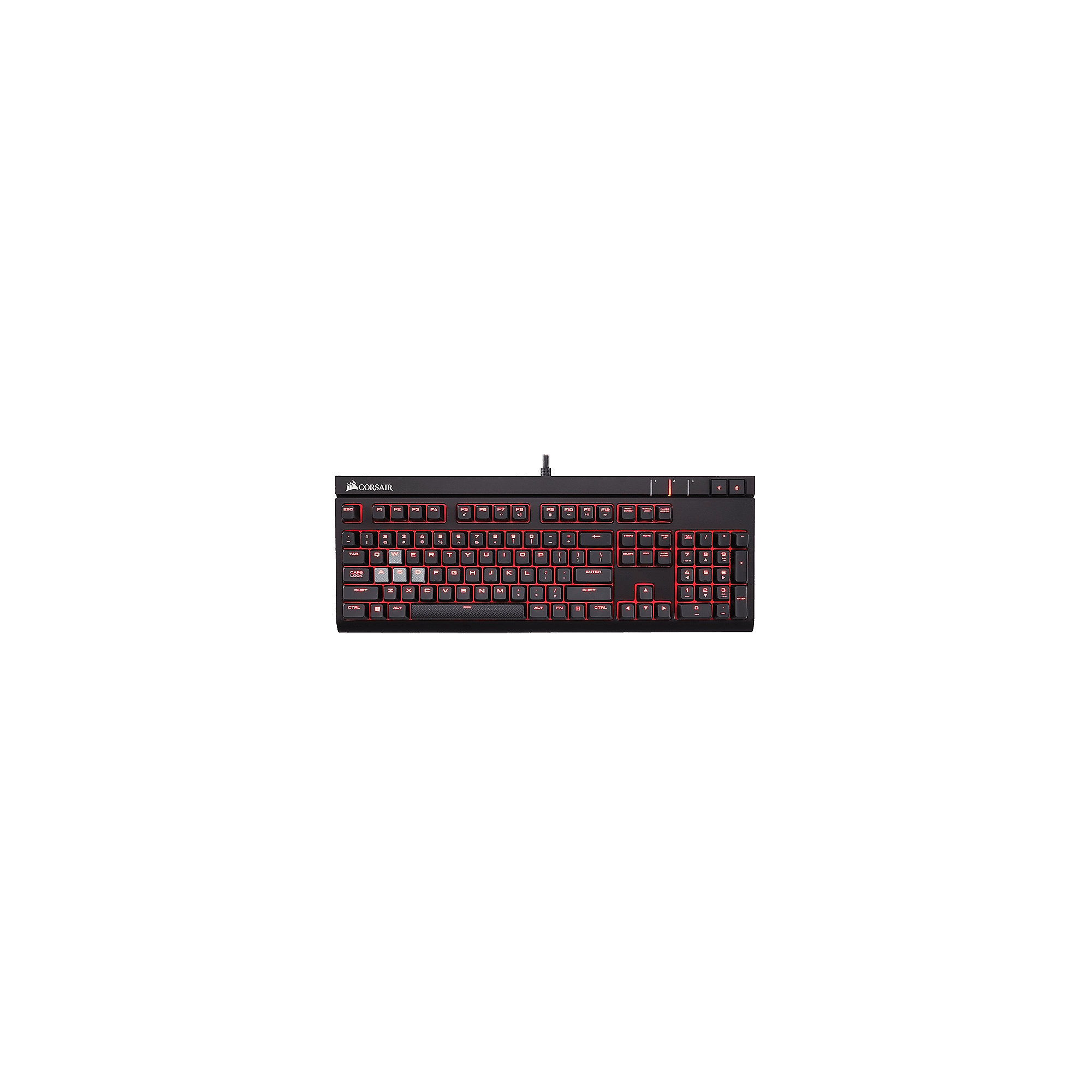 Corsair Gaming STRAFE schwarze Tastatur Red LED Cherry MX Blue