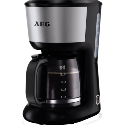 AEG  KF 3700 Kaffeeautomat Perfect Morning Schwarz Silber | 7332543438686