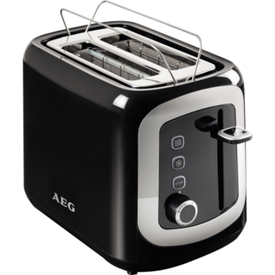 AEG  AT 3300 Automatic Toaster Perfect Morning Schwarz Silber | 7332543438594