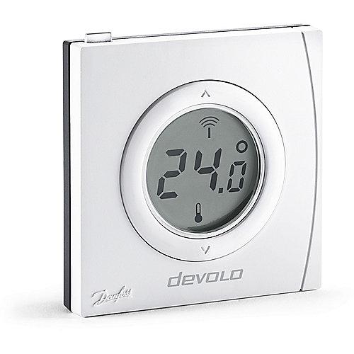 devolo Home Control Raumthermostat (Smart Home, Z Wave, Hausautomation, Sensor) | 4250059693616