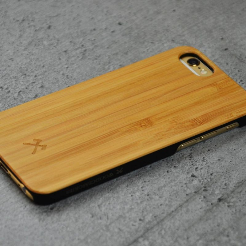 Woodcessories EcoCase Classic für iPhone 6/6s bamboo+black