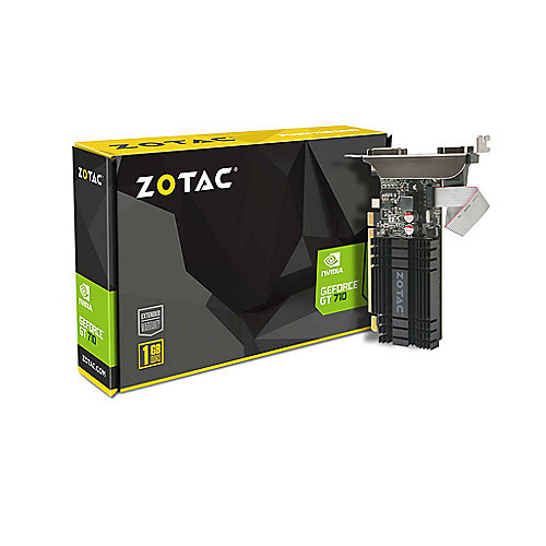 Zotac GeForce GT 710 1GB DDR3 Grafikkarte DVI/HDMI/VGA Low Profile passiv | 4895173608872
