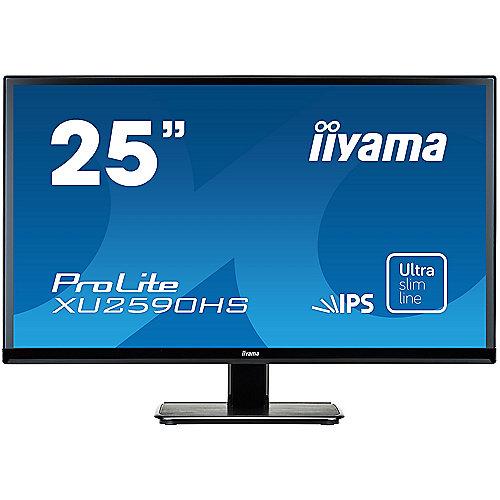 "iiyama ProLite XU2590HS-B1 63,5cm/25 16:9 FHD VGA/DVI/HDMI 5ms IPS LED LS"" | 4948570114078"