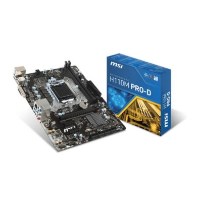 MSI  H110M Pro-D USB3.1/DVI mATX Mainboard Sockel 1151 | 4719072438739