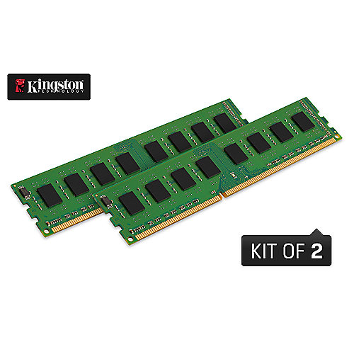 16GB (2x8GB) Kingston ValueRAM DDR3-1600 RAM CL11 (11-11-11-27) - Kit