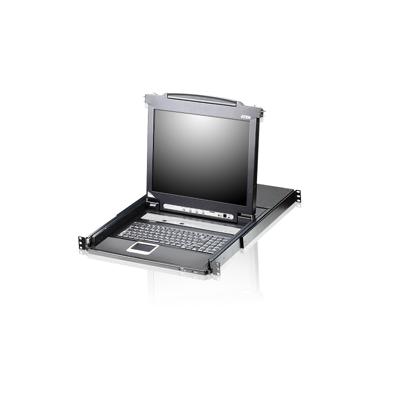 Aten  CL5708M 8-fach 17-Zoll-LCD-KVM-Konsole (USB – PS/2 VGA) schwarz CL5708M   4710423775350