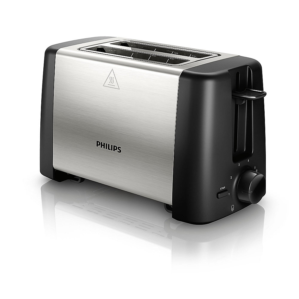 Philips Daily Collection HD4825/00 Toaster Schwarz Edelstahl