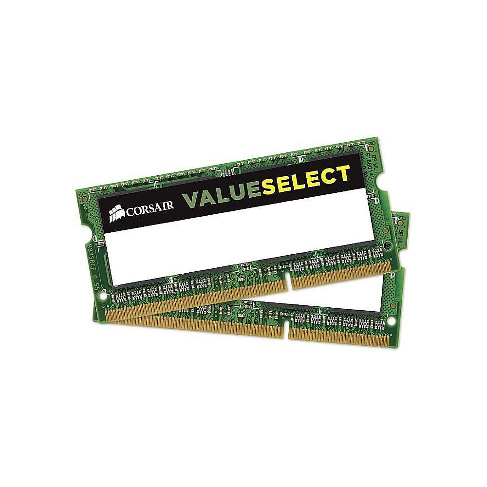 16GB (2x8GB) Corsair Value Select DDR3-1333 MHz CL 9 SODIMM Notebookspeicher