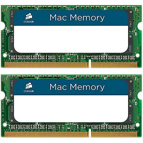 16GB (2x8GB) Corsair SODIMM PC10600/1333Mhz für MacBook Pro, iMac, Mac mini   0843591014755