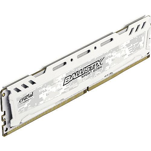 16GB Ballistix Sport LT DDR4-2400 Weiß CL16 (16-16-16) RAM Speicher | 0649528774255
