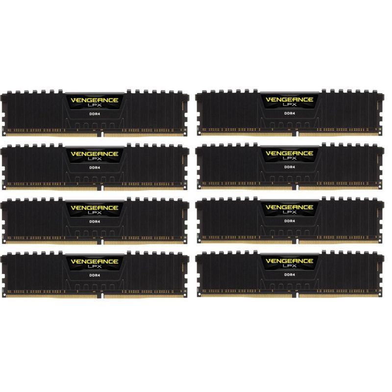 128GB (8x16GB) Corsair Vengeance LPX Black DDR4-3000 RAM CL16 (16-18-18-36)