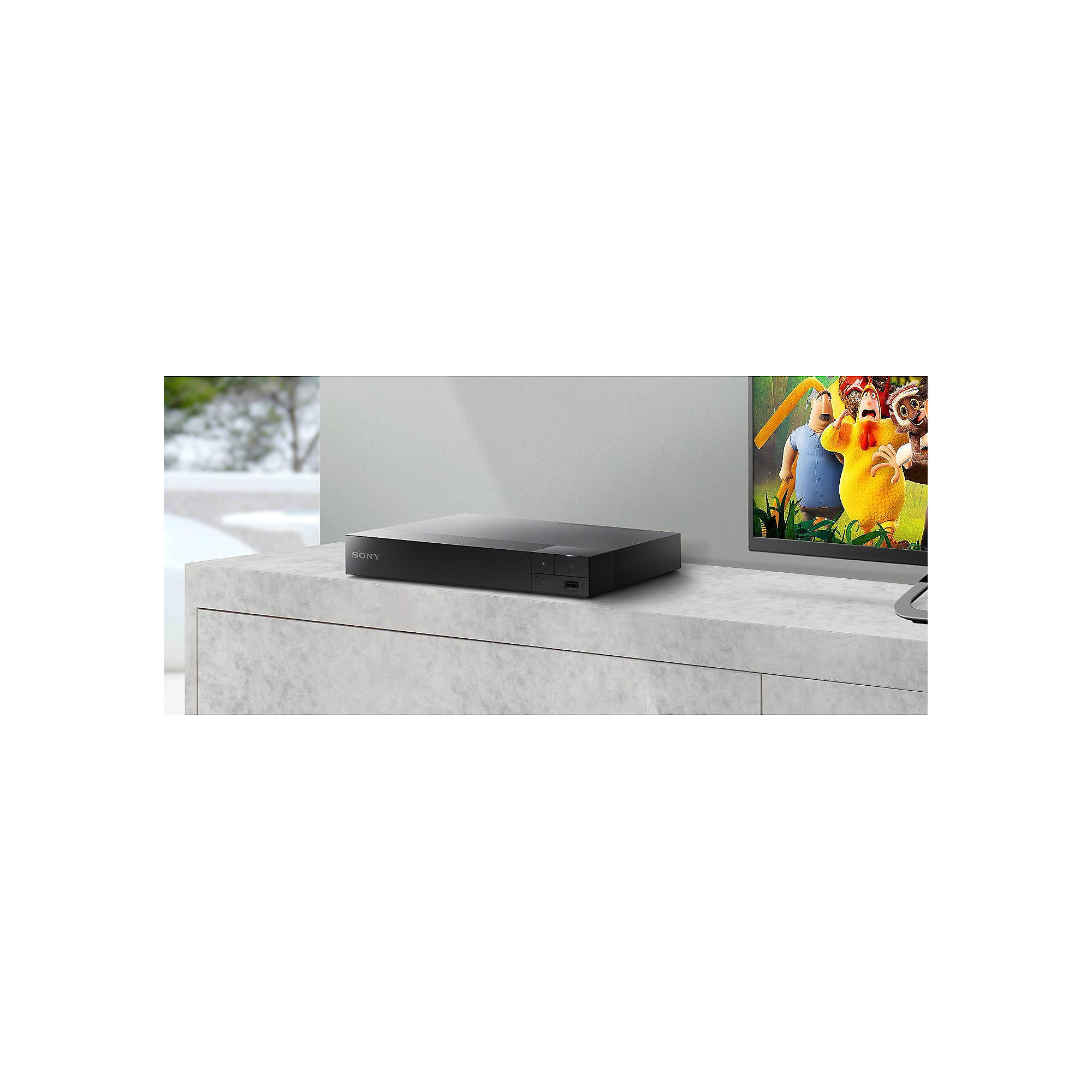 Sony BDP-S3700 Blu-ray-Player (Super WiFi, USB, Screen Mirroring) schwarz