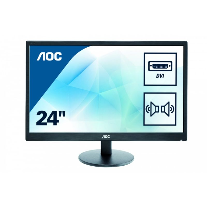 "AOC e2470Swda 59,9 cm (24"") 16:9 Full HD Monitor VGA/DVI 5 ms 20.000.000:1 LS"