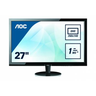 AOC  Q2778Vqe 68,6 cm (27″) 16:9 WQHD Monitor mit VGA/DVI/HDMI and DP 5ms 80.Mio:1 | 4038986185134