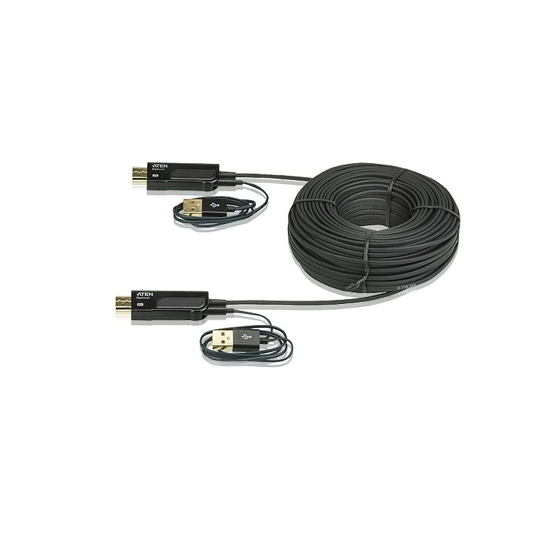 Aten VE874 HDMI aktives optisches Kabel 50m schwarz