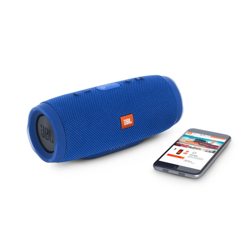 JBL Charge 3 Blue Tragbarer Bluetooth-Lautsprecher Blau