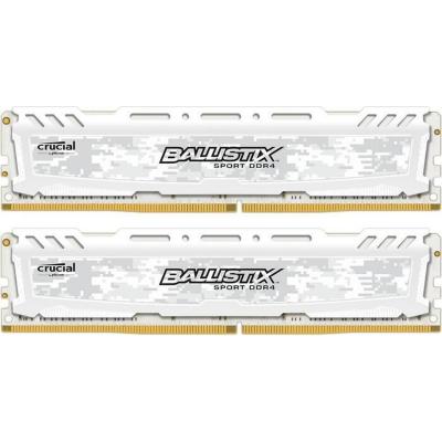 Ballistix 16GB (2x8GB)  Sport LT DDR4-2400 Weiss CL16 RAM | 0649528774330