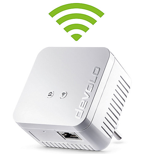 devolo dLAN 550 WiFi (500Mbit, Powerline + WLAN, 1xLAN, WLAN, Slim-Design)