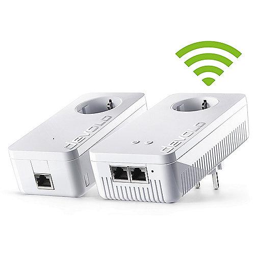 devolo dLAN 1200+ WiFi ac Starter Kit (1200Mbit, 2er Kit, Powerline + WLAN ac) | 4250059693906
