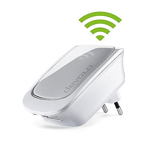devolo WiFi Repeater (300Mbit, 1xLAN, WPS, WLAN Repeater, Extender, Verstärker) | 4250059694217