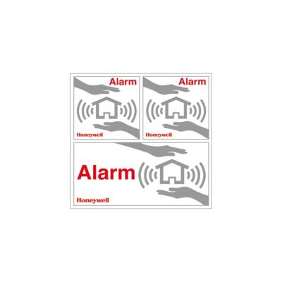 "Honeywell  HS3WS2S 4x Aufkleber ""Alarmgesichert"" | 5004100966094"