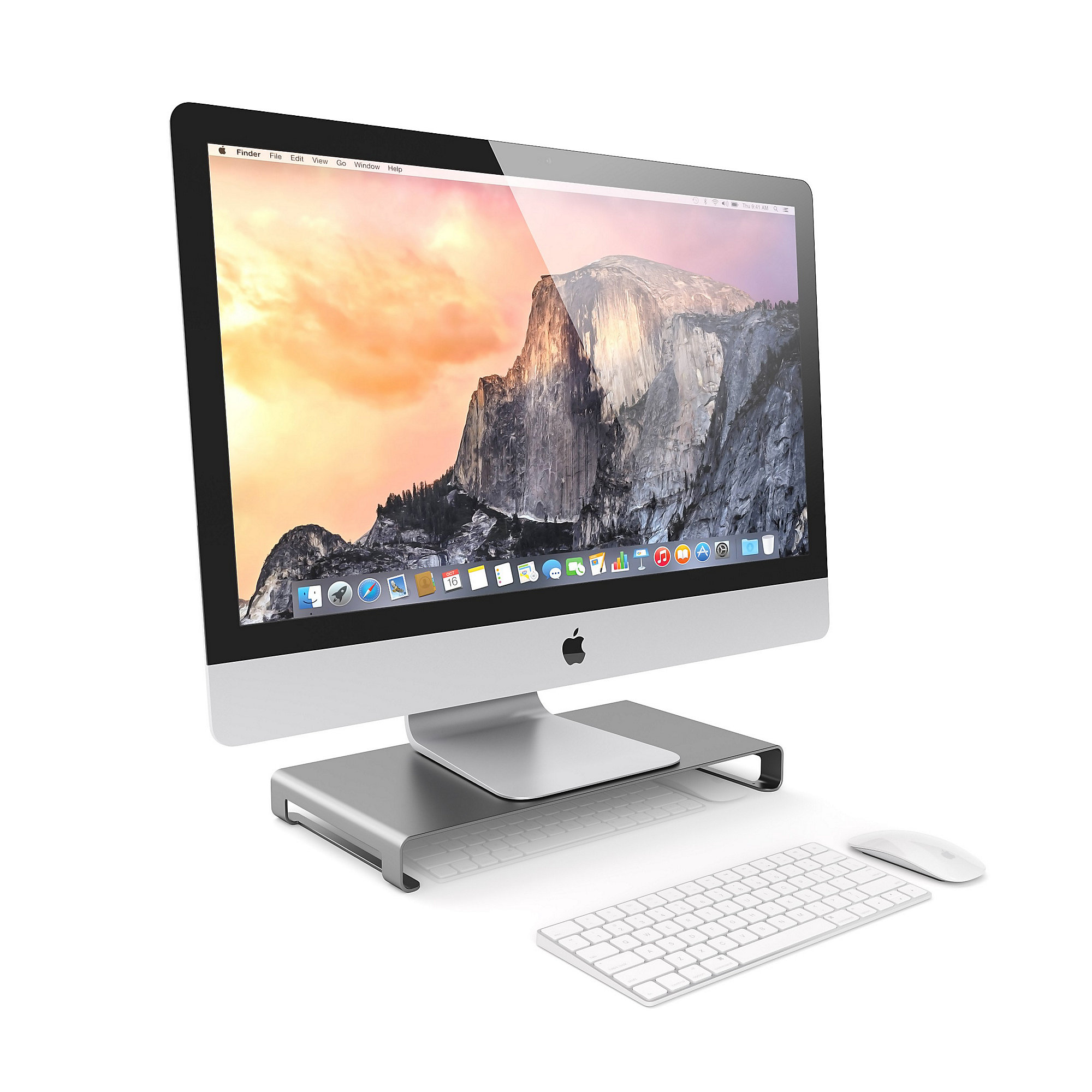 Satechi Slim Aluminum Monitor Stand Space Gray