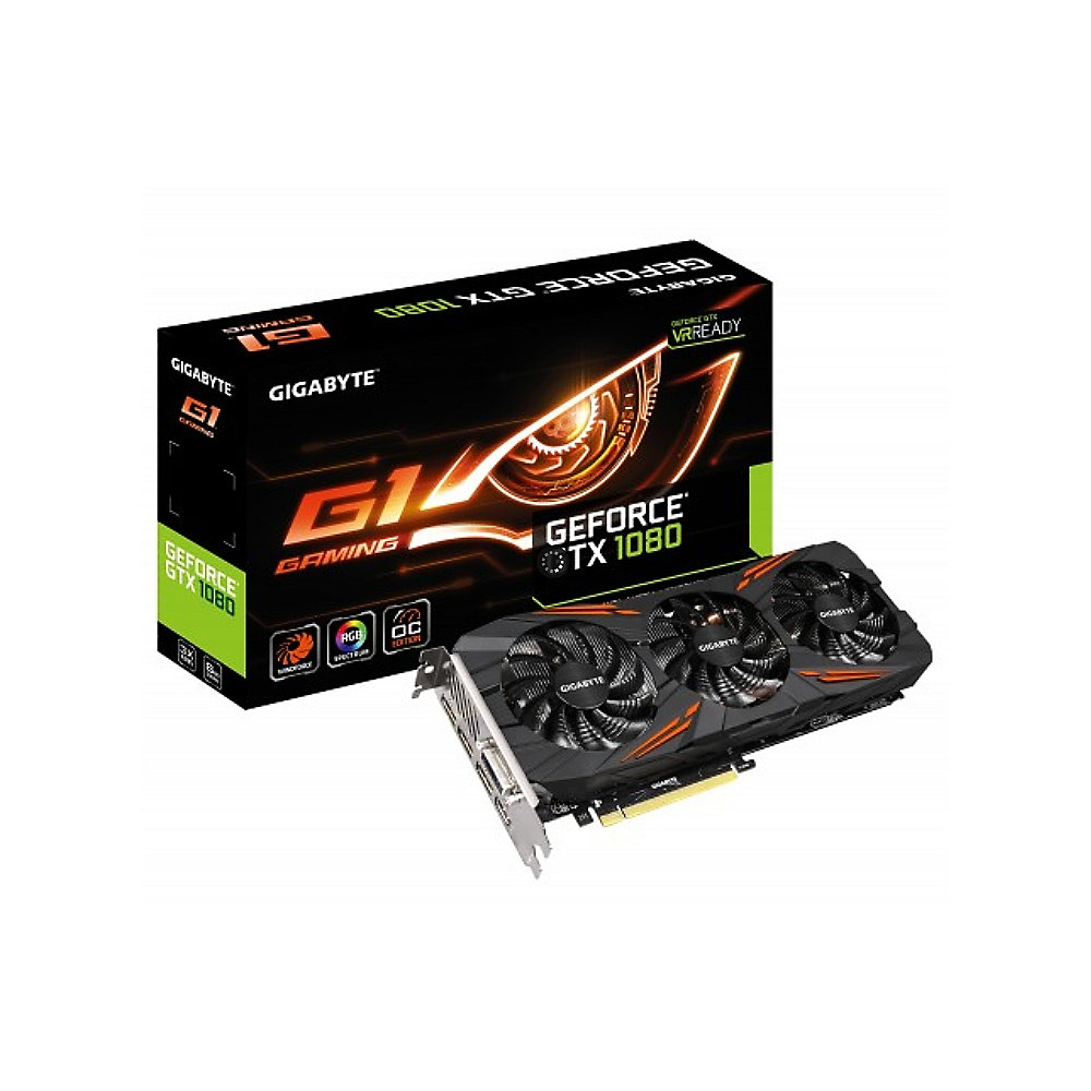 Gigabyte GeForce GTX 1080 G1 Gaming 8GB GDDR5X Grafikkarte DVI/HDMI/3xDP