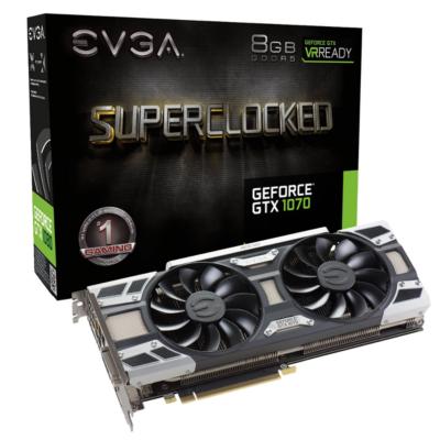 Evga  GeForce GTX 1070 SC Gaming ACX 3.0 8GB GDDR5 DVI/HDMI/3xDP Grafikkarte | 4250812414076