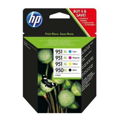 HP  950XL/951XL Original Druckerpatronen cyan, magenta, gelb, schwarz (C2P43AE) | 0887111884930