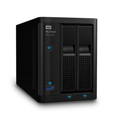 Western Digital WD My Cloud Pro PR2100 NAS System 2-Bay 16TB inkl. 2x 8TB HDD WDBBCL0160JBK-EESN | 0718037846071