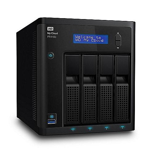 WD My Cloud Pro PR4100 NAS System 4-Bay 24TB inkl. 4x 6TB HDD WDBNFA0240KBK-EESN | 0718037845944