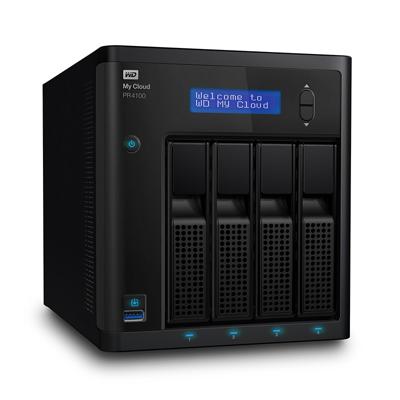 Western Digital WD My Cloud Pro PR4100 NAS System 4-Bay 32TB inkl. 4x 8TB HDD WDBNFA0320KBK-EESN | 0718037846088
