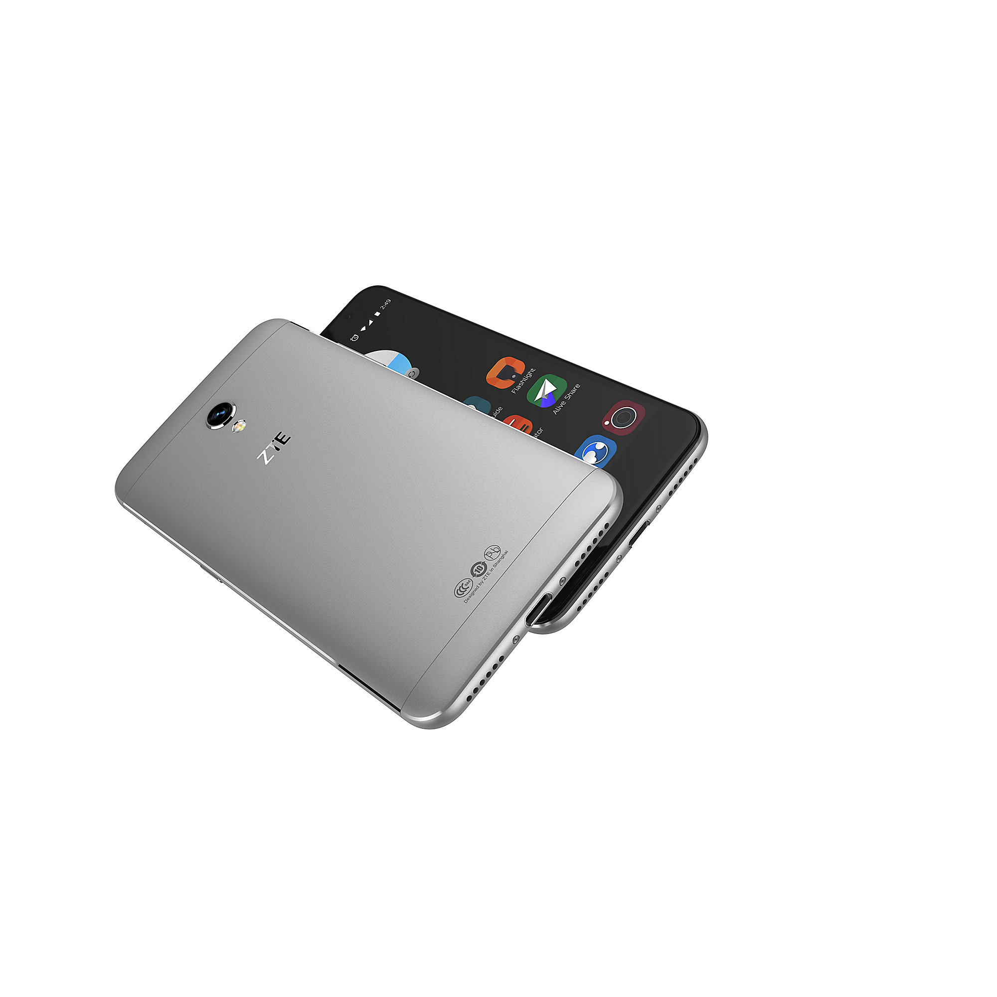 ZTE Blade V7 grey Android M Smartphone