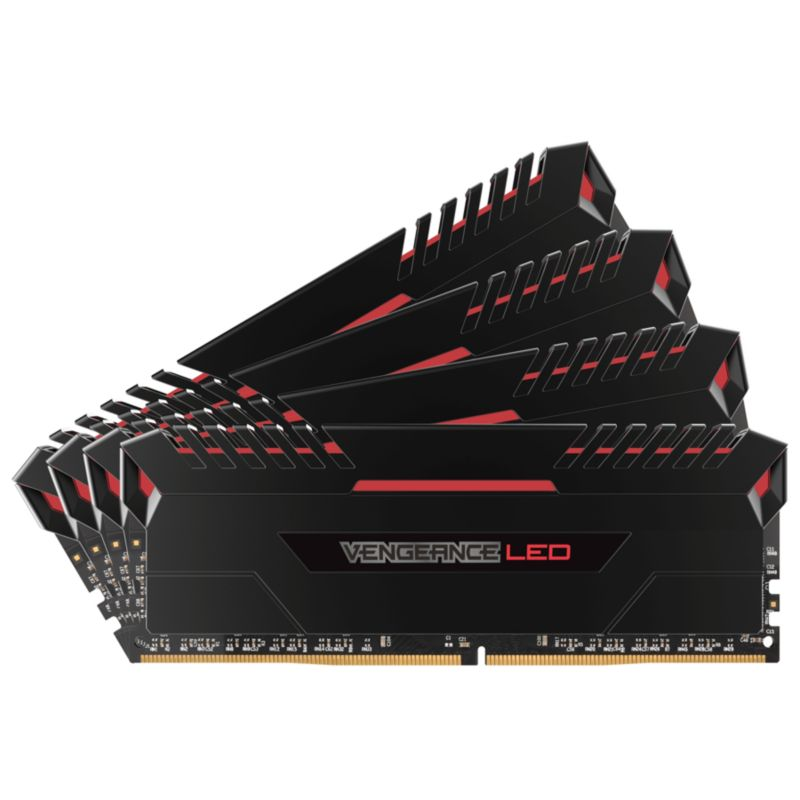32GB (4x8GB) Corsair Vengeance LED Rot DDR4-2666 RAM CL16 (16-18-18-35)